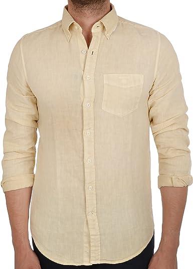 Gant - Camisa casual - Manga Larga - para hombre beige beige ...