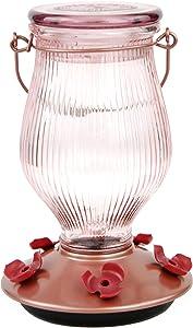 Perky-Pet 9104-2 Rose Gold Top-Fill Glass Hummingbird Feeder Rose Gold 24 oz Capacity