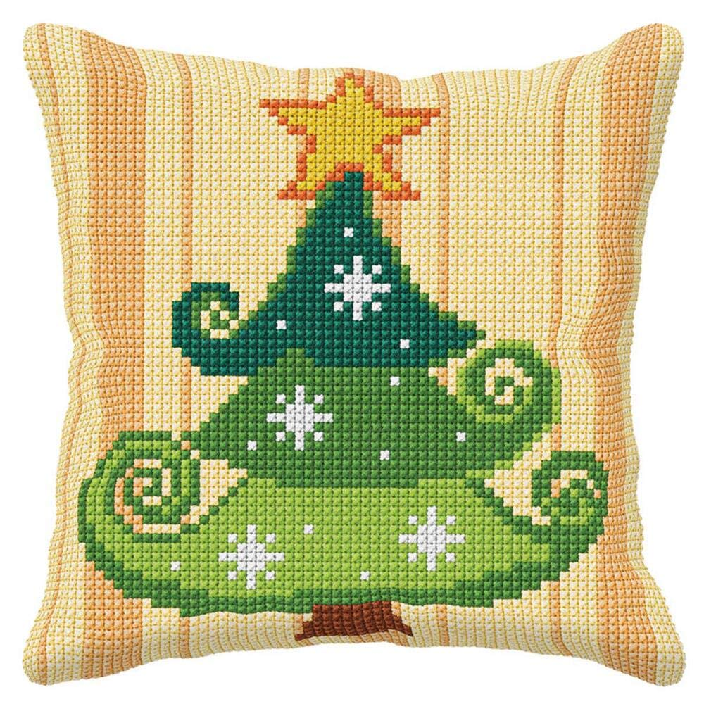 Orchidea Christmas Tree Pillow Cover Needlepoint Kit