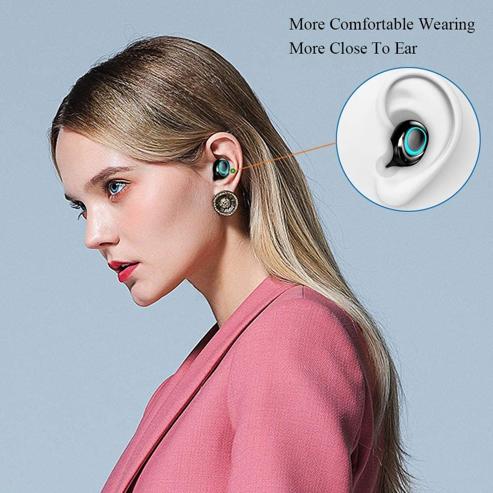 Prtukyt Bluetooth headphones,headphones wireless in ear earphones sport wireless headphones Bluetooth 5.0 headset with LED digital display 152 hours playing time IPX7 waterproof for iPhone Android