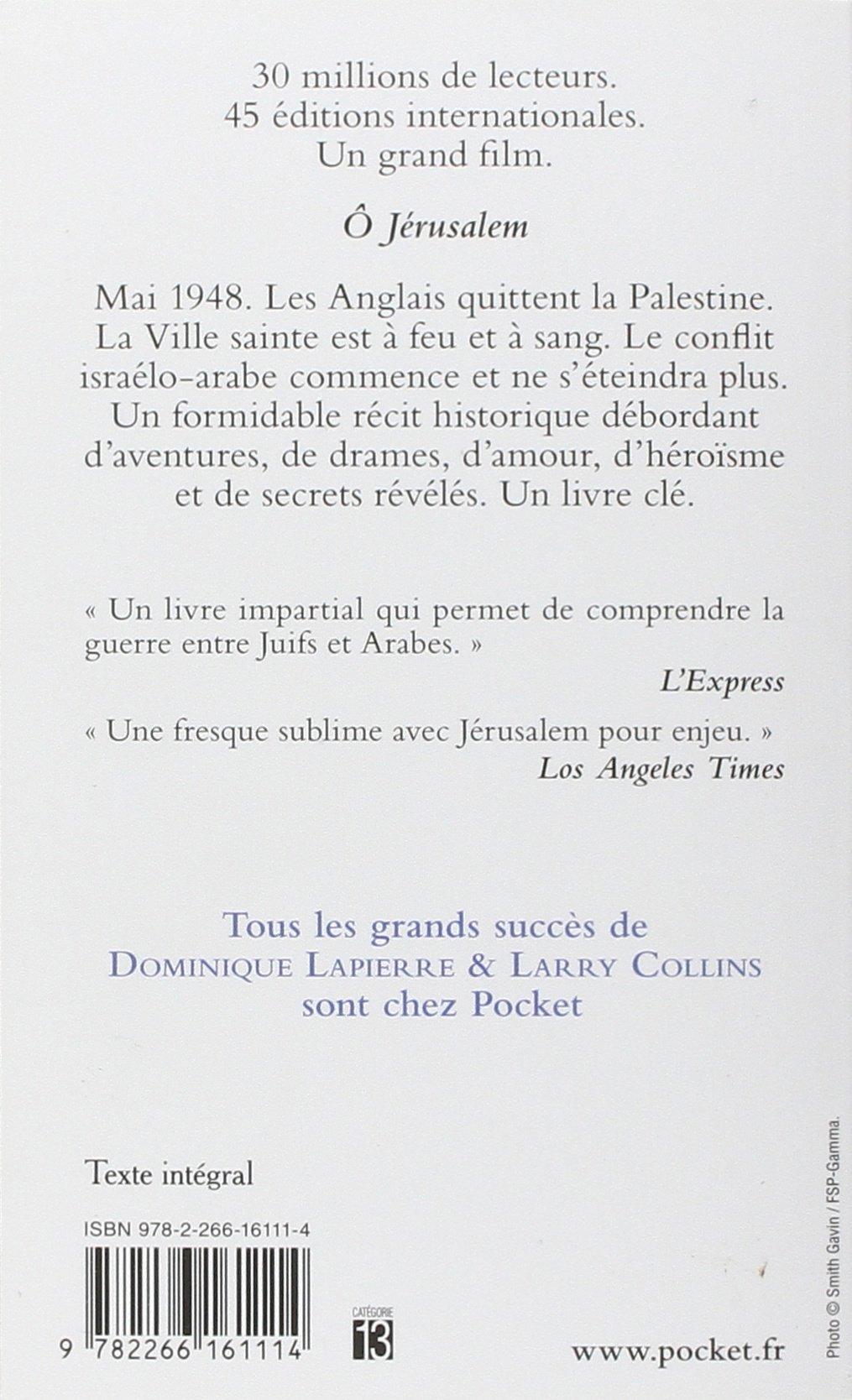 Amazoncom O Jerusalem 9782266161114 Dominique Lapierre
