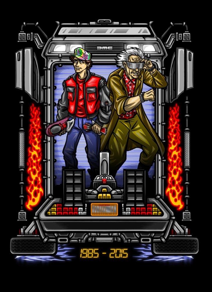 Parody Design Rectangle Refrigerator Magnet Friends In Time II