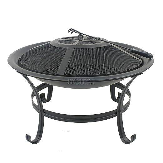 FoxHunter para exteriores de acero Aire libre chalupa mesa redonda ...