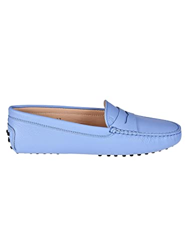 e6d200bcd9b Tod s Gommino Light Blue Leather Loafers Blu Donna 40  Amazon.co.uk ...