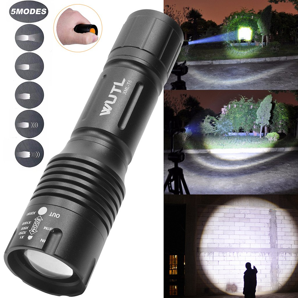 Tactical Led Flashlight Pocket Mini Torch Small COB Work Light Multi Function Flashlight Combo Pack Ultra Compact Size by WUTL (Image #3)