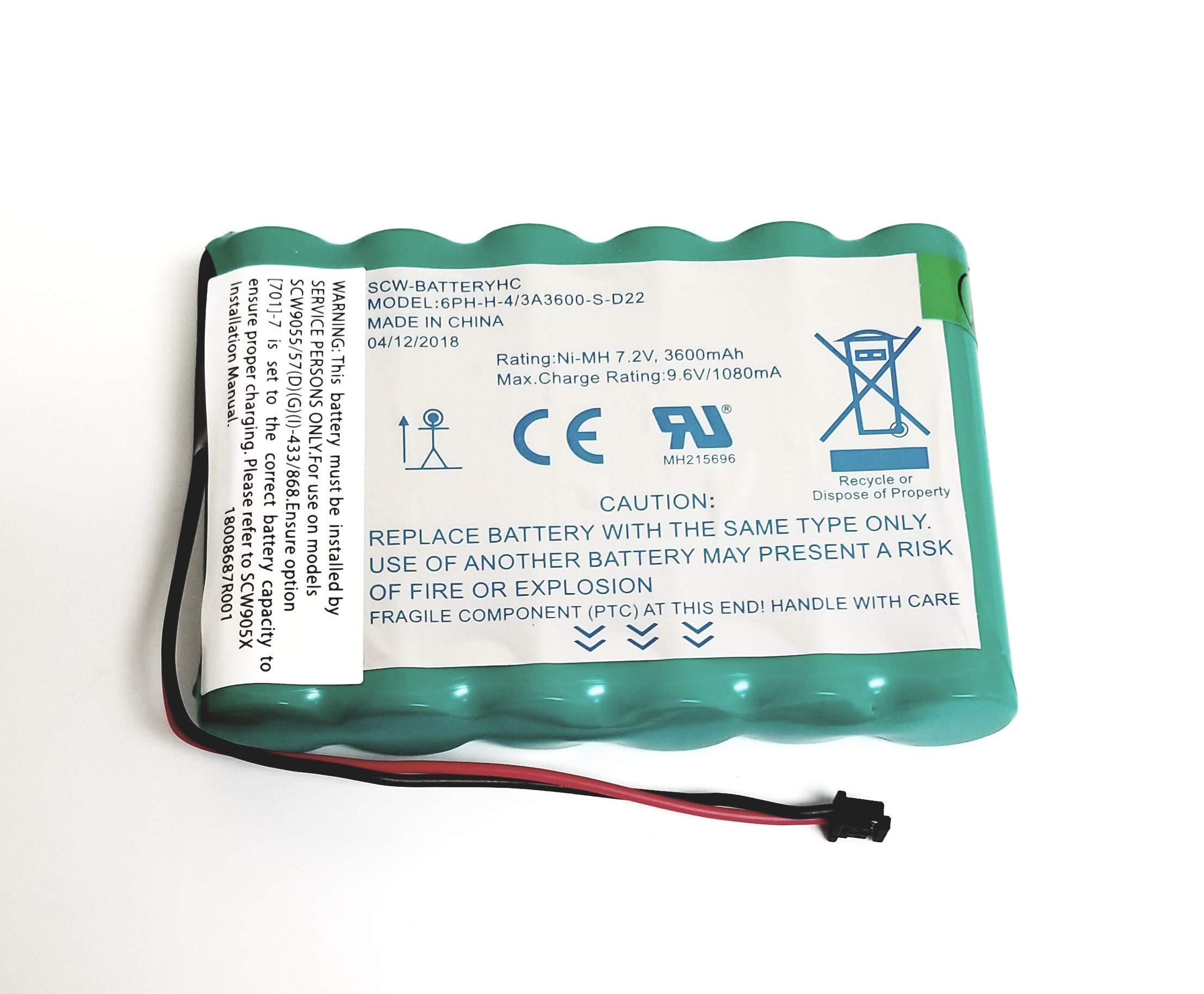 Brand New DSC IMPASSA 9057 Battery 6PH-H-4/3A3600-S-D22 7.2 V 3600mAh, 2017