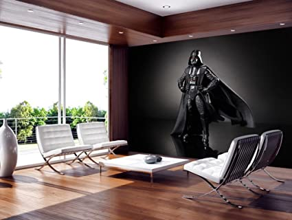 Amazon Com Star Wars Darth Vader Wallpaper Woven Self