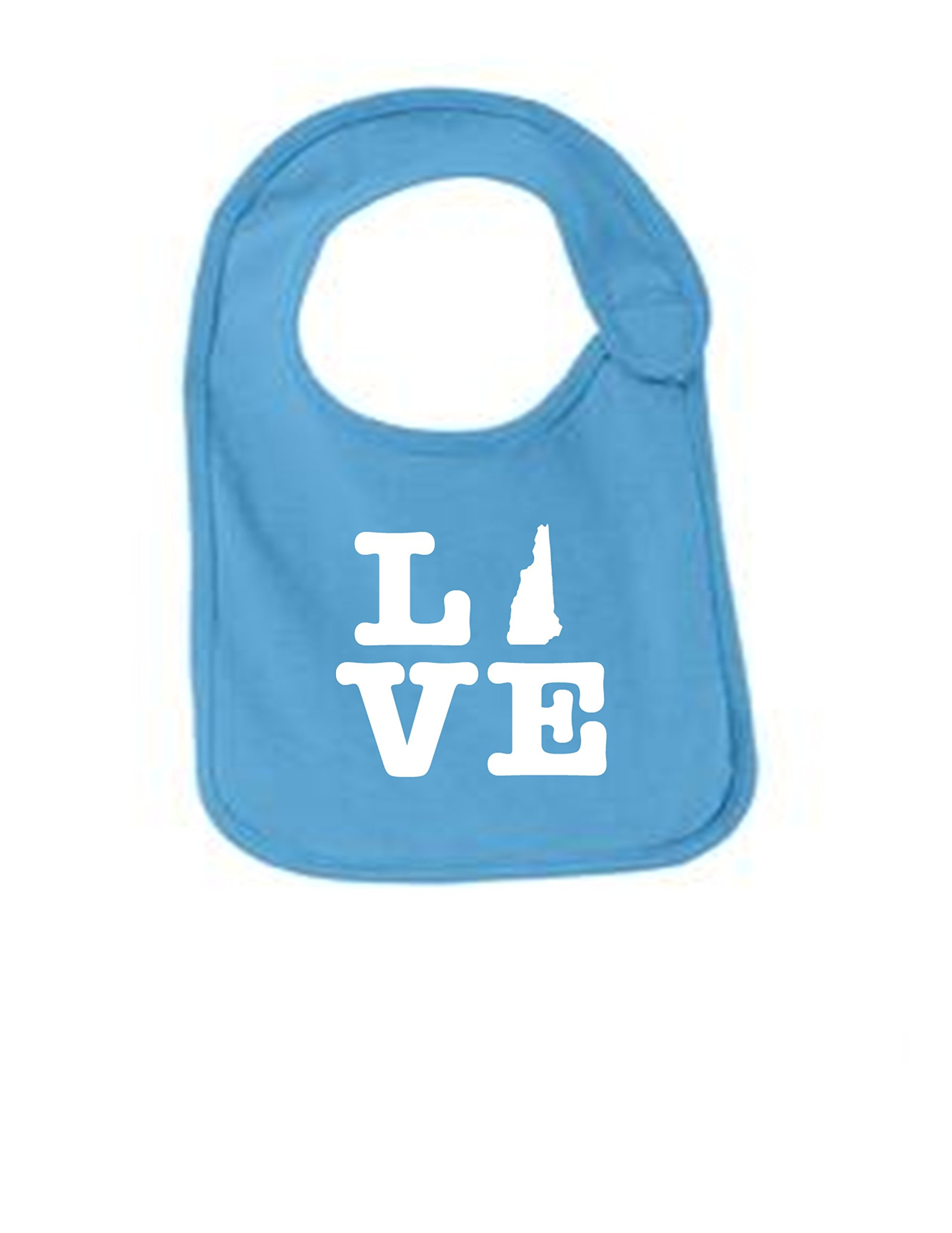 New Hampshire Love Funny Infant Jersey Bib Aquatic Blue One Size