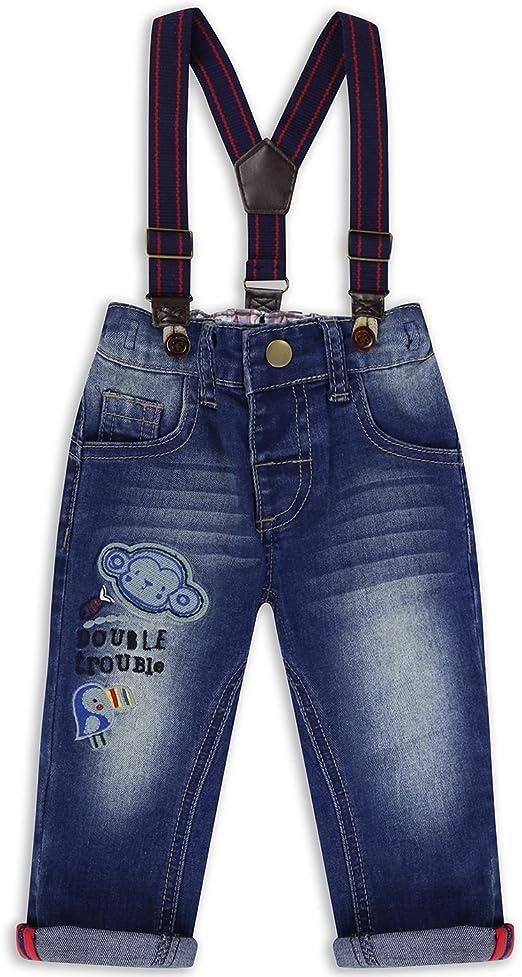 Bonjouree 2PC Hauts et Salopettes B/éb/é Gar/çon Chemise Manche Longue et Pantalons Costume Bebe