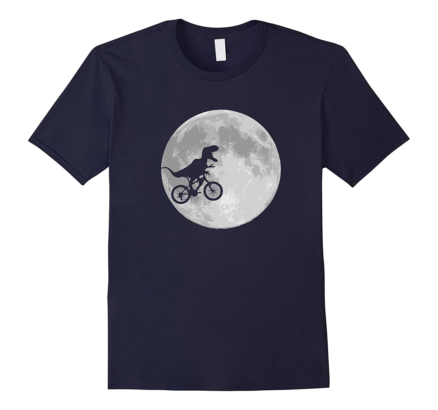 Dinosaur Bike and Moon shirt retro 80s funny t-shirt-TD