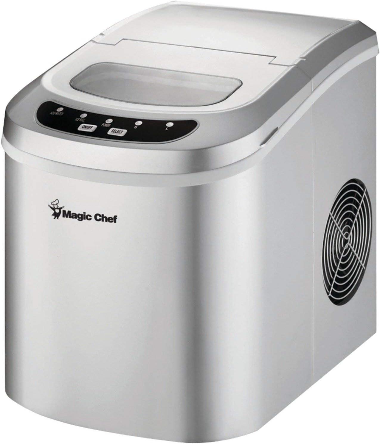 MAGIC CHEF MCIM22SV 27lb-Capacity Portable Mini Ice Maker Home, garden & living