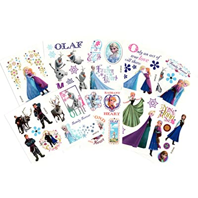 Disney 30 Sheets of Frozen Temporary Tattoos (Includes Princess Anna, Queen Elsa, Olaf, Kristoff and Sven): Toys & Games