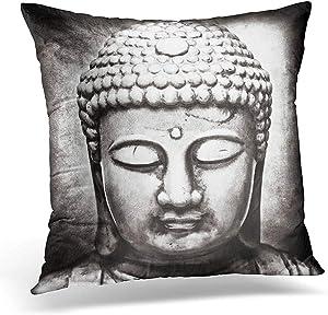 "Staroutah Throw Pillow Cover Buddhism Buddha Figure with Blending Process Zen Decorative Pillow Case Home Decor Square 18"" x 18"" Pillowcase"
