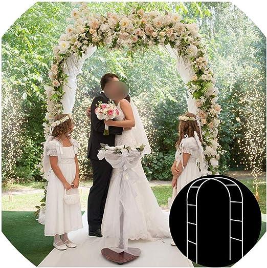 XY-young-Wedding arch Arco de Metal para Boda, Flor, Fondo para Puerta, Redondo, para jardín, Boda, Novio, rústico, Boda, Fiesta, decoración: Amazon.es: Jardín