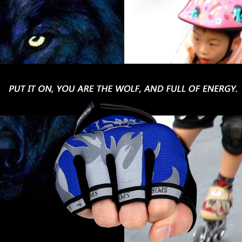 equitaci/ón ciclismo a prueba de golpes Par de mitones unisex para deportes al aire libre fitness