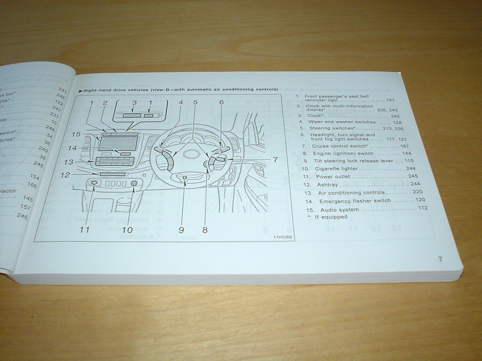 TOYOTA HILUX OWNERS MANUAL HANDBOOK - 1GR-FE 4.0 / 1TR-FE 2.0 / 2TR-FE 2.7  / 1KD-FTV 3.0 / 2KD-FTV 2.5 / 5L-E 3.0 LITRE ENGINE - OWNER'S HAND BOOK  MANUAL: ...