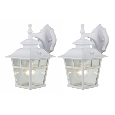 Canarm IOL183TWH-C Fieldhouse Outdoor Lantern Twin Pack, White