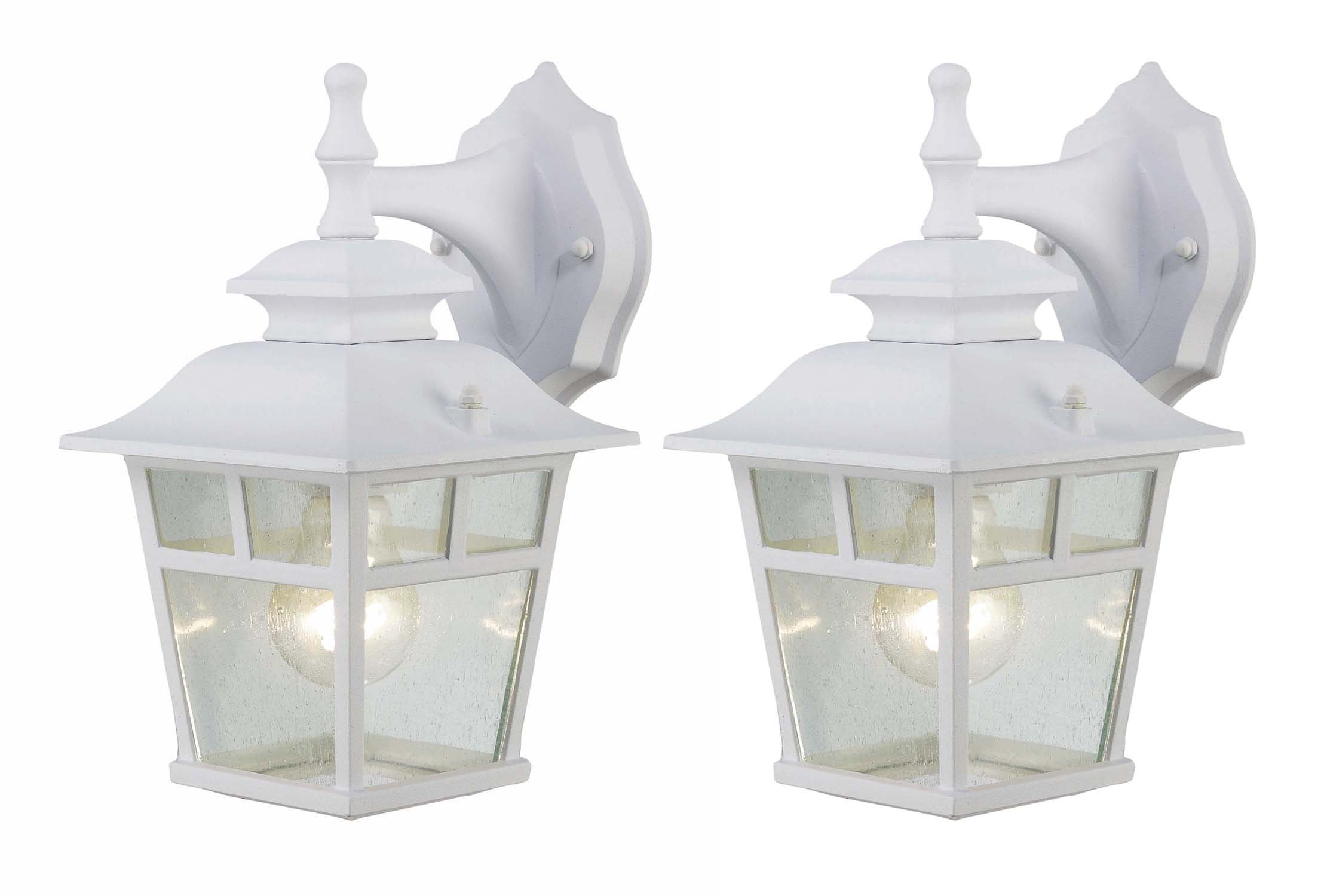 Canarm IOL183TWH-C Fieldhouse Outdoor Lantern Twin Pack, White by Canarm