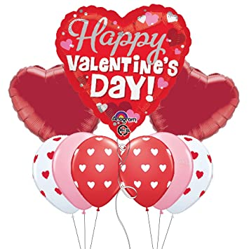 Amazon Com Happy Valentine S Day Themed Party Balloon Bouquet With
