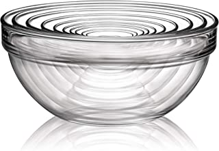 product image for Luminarc Stackable Bowl 10-Piece Set, Glass, 1, Clear