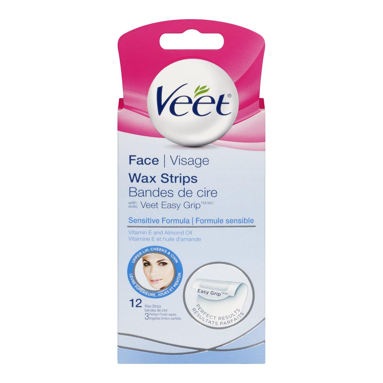 veet face wax strips