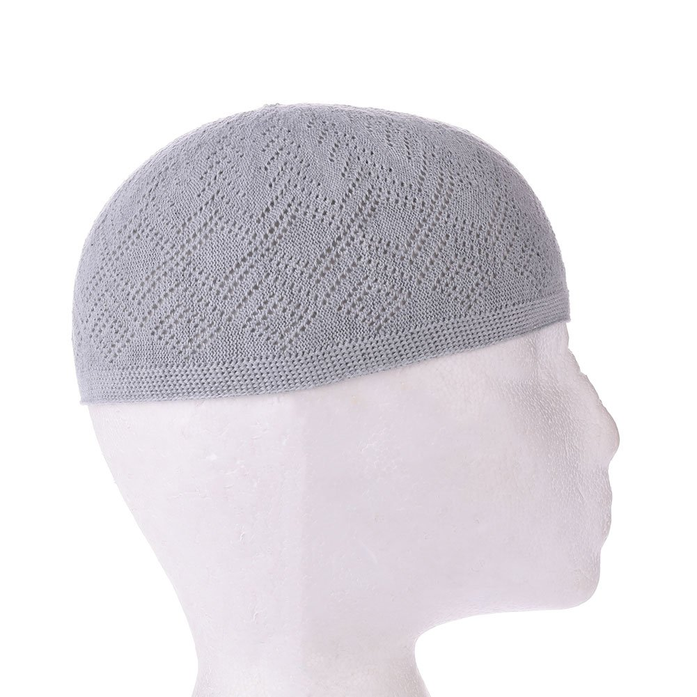 LISRUI Chapeau de cr/âne Islamique pour Les Hommes pri/ère Musulmane Chapeau Topi Kufi Porter des Casquettes en Coton Chapeaux