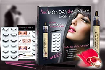 b5d7cf64140 Amazon.com : Bridal False Eyelash Set | Waterproof Lash Glue | Easy to Apply  Latex Free for Sensitive Eyes : Beauty
