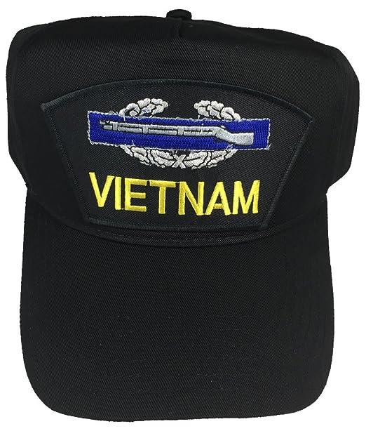 0647f9fb2fc VIETNAM VETERAN U.S. ARMY W  COMBAT INFANTRY BADGE CIB HAT - BLACK - Veteran  Owned