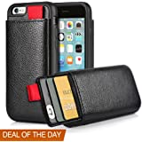 iPhone 6 Wallet Case, iPhone 6s Leather Case, LAMEEKU Shockproof Wallet cover Leather Wallet case with Credit Card Slot Holder, Protective cover For Apple iPhone 6 / 6S 4.7inch Black