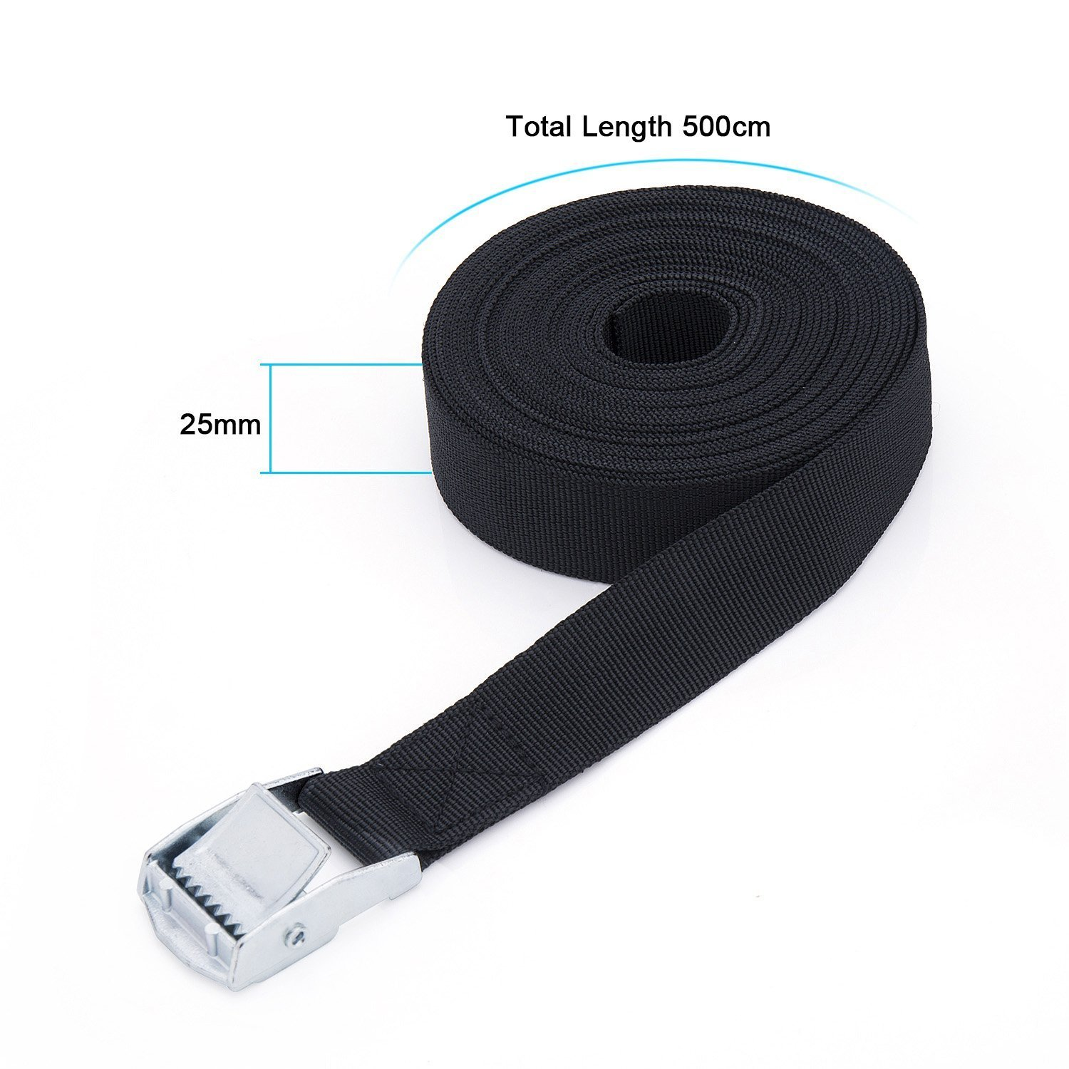 Trailer Heavy Duty Luggage Tie Down Strap with Metal Cam Buckle for Motorcycle Truck Hold and Travel Kits Cargo 5Mx25MM ZWOOS 4pcs Lashing Strap Tensioning Belts