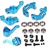 ShareGoo Aluminum Steering Knuckle Hub Mount Upgrade 102010 102011 102012 Part Set HSP 1/10 RC Volcano EPX Monster Model Car Truck -Blue