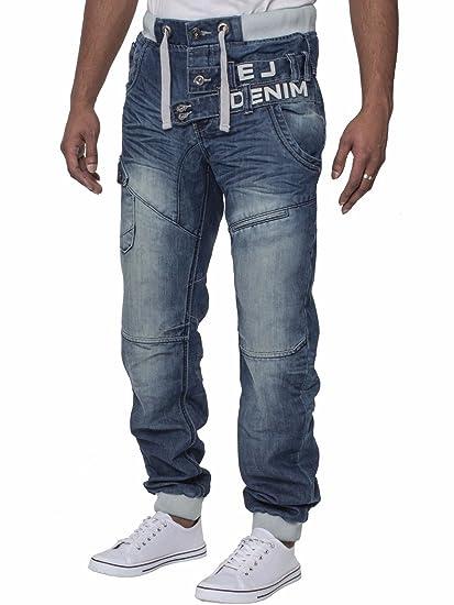 Eto Mens Cuffed Jeans Designer Jogger Jean Elasticated Waist 28-38   Amazon.co.uk  Clothing 806bfb17910
