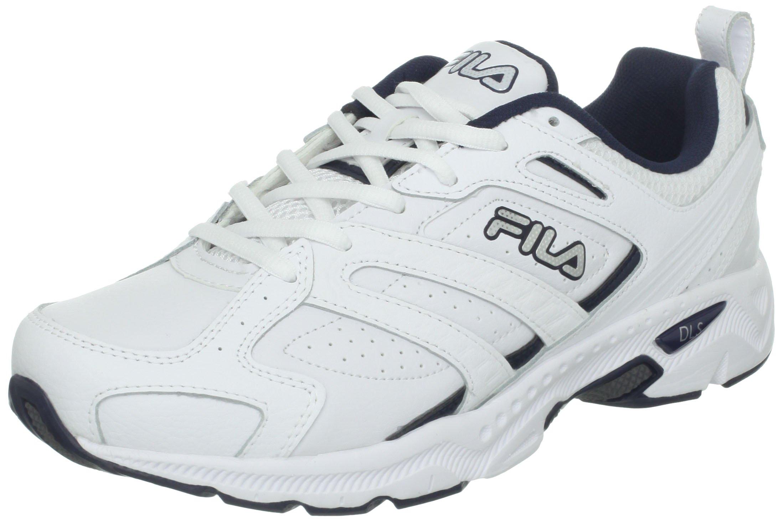 Fila Men's Capture Running Shoe,White/Peacoat/Metallic Silver,7.5 4E US