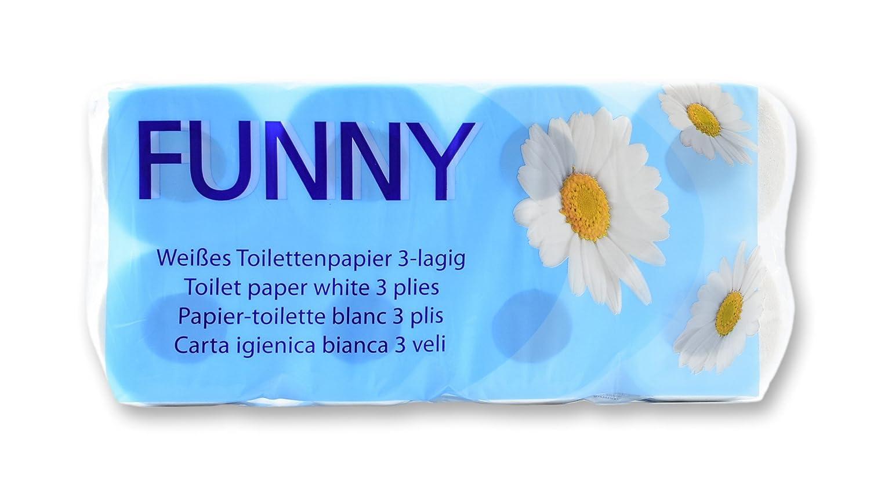 HRB 48 Rollen Toilettenpapier Klopapier 3 lagig WC Papier