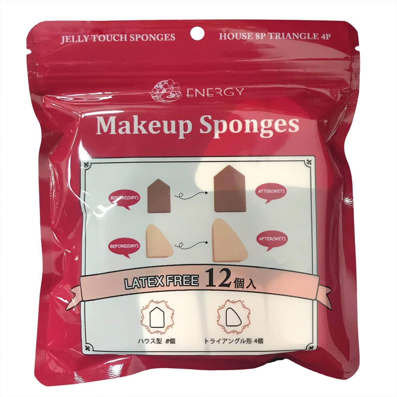 ENERGY Makeup Sponges Wedge Blender Beauty Foundation Blending Sponge, Flawless Applying for Liquid Cream and Loose Setting Powder,Multi-colored Makeup Sponges set(12pcs,Pink,Brown)