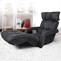 Artiss Lounge Sofa Bed Recliner Floor Lounge Chair Adjustable Gaming Lazy Sofa, Charcoal