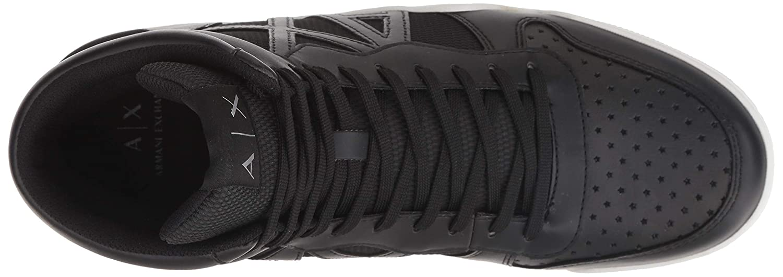 Amazon.com: A|X Armani Exchange Mens High Top Lace Up Sneaker Black 00002 7 M US: Shoes