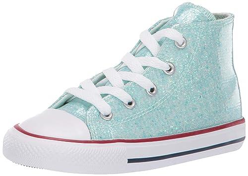 Converse Chuck Taylor All Star Hi Sport Sparkle Teal Tint Sintético Bebé Entrenadores Zapatos: Amazon.es: Zapatos y complementos