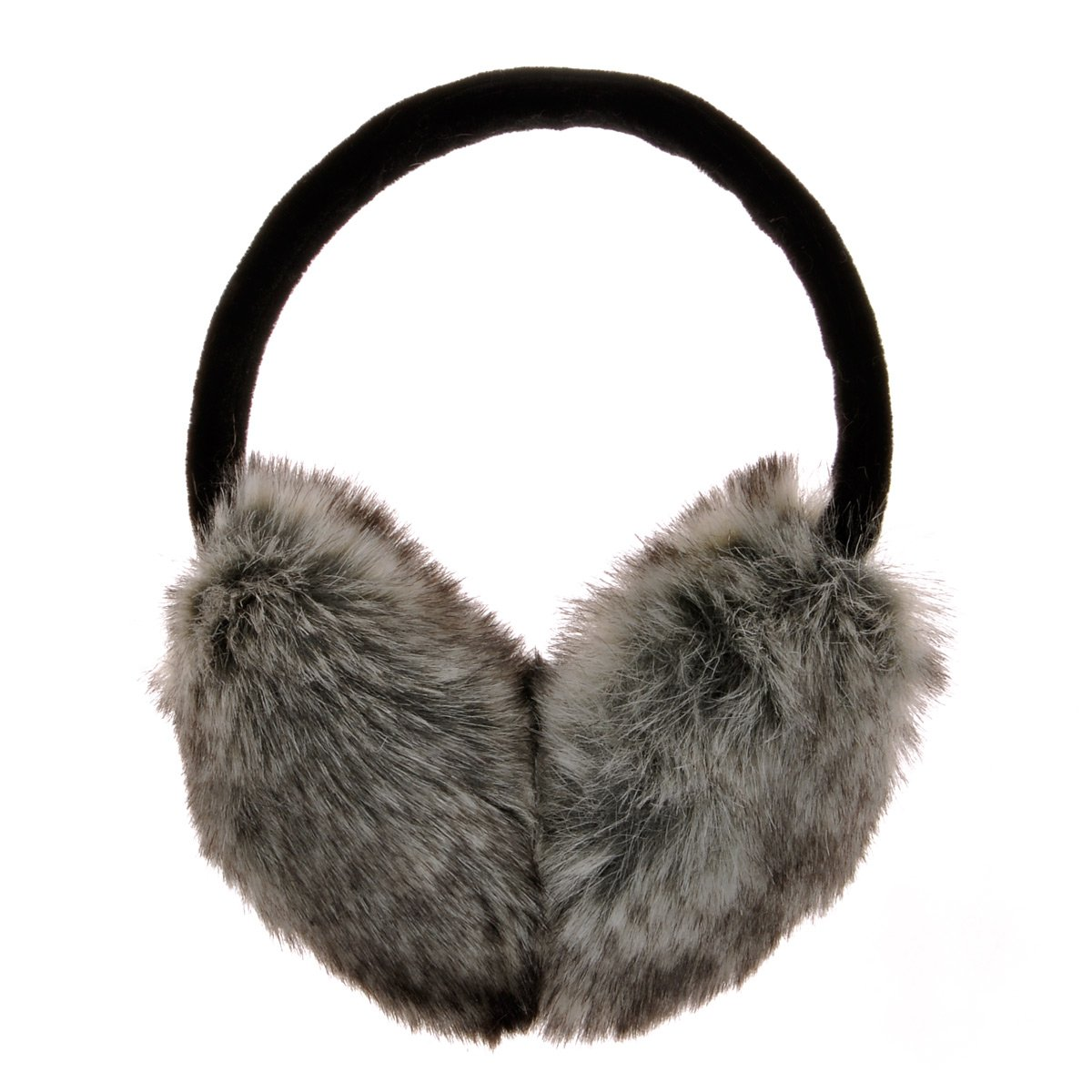 ZLYC Womens Girls Winter Fashion Adjustable Faux Fur EarMuffs Ear Warmers, Grey