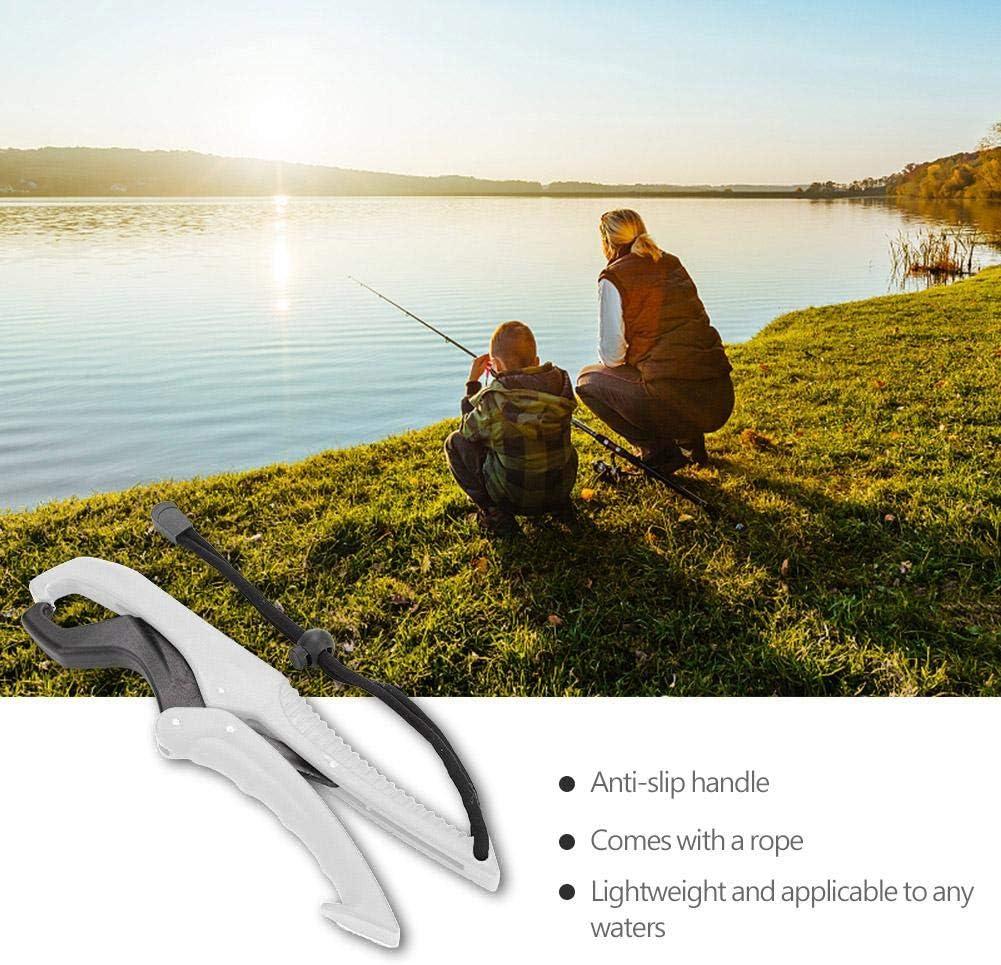 Fish Lip Grip-Zange Grabber Keeper Fishing Tackle Schwimmende Kunststoff-Lippenzange mit Lanyard Vbestlife Schwimmende Kunststoff-Angelzange