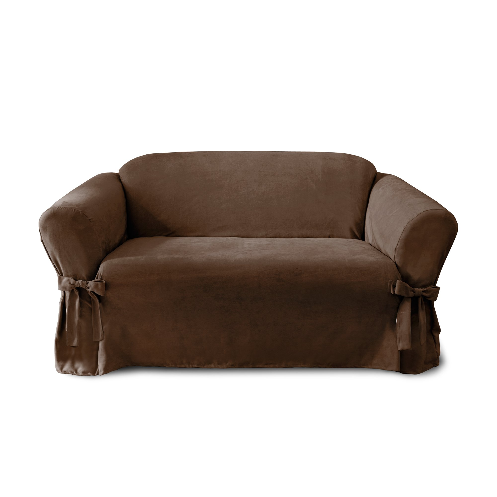 CoverWorks SIENLOVECHOC1 Sienna Relaxed Fit Loveseat Slipcover, Chocolate