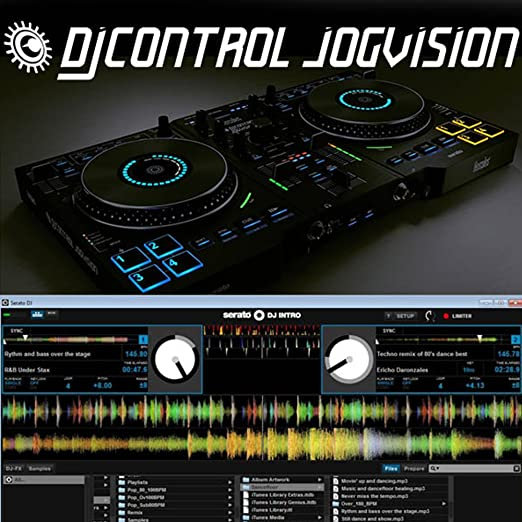 Hercules Djcontrol Jogvision 2-Channel USB DJ Controller with Animated  In-Jog LED Displays & Motion-Sensor Effects for Serato DJ Lite