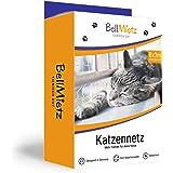 BellMietz Katzennetz für Balkon und Fenster | Extragroßes 8x3m Katzenschutznetz | inkl. 25m Befestigungsseil | Balkonnetz mit GRATIS Ebook