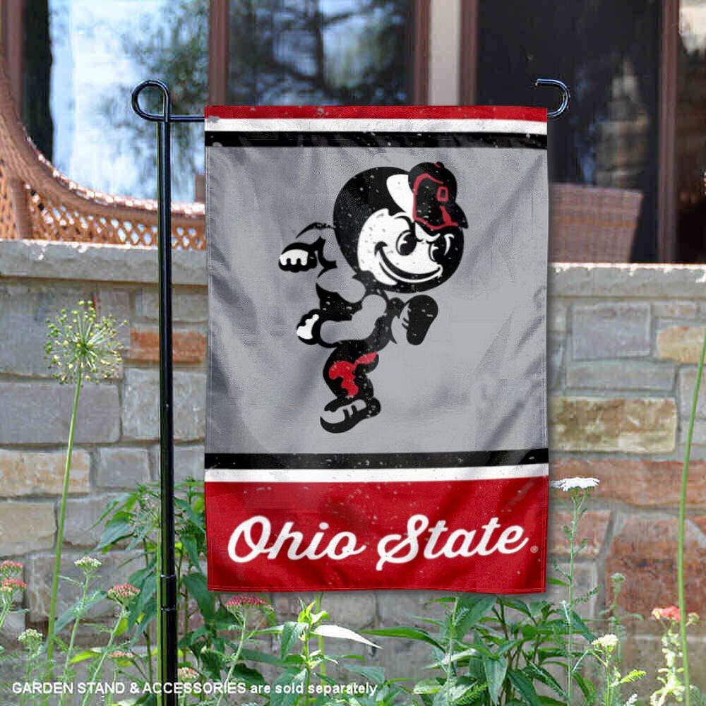 Wincraft Ohio State Buckeyes Vintage Retro Throwback Garden Flag