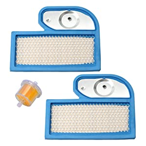 Harbot (Pack of 2 FH451V 11013-7002 Air Filter with Fuel Filter for Kawasaki FH500V FH531V FH541V FH580V FH680D 4 Stroke Engine John Deere M137556 Cub Cadet 490-200-0004 Lawn Mower