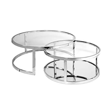 Glass Round Nesting Coffee Table 6