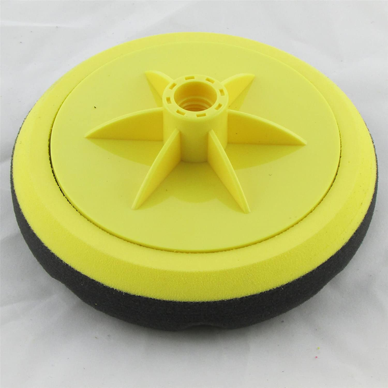 + 115mm Backing Pad//Plate Soft and Hard Compounding Head HookNLoop HookIt Polishing Kit Soft Foam Pad Black
