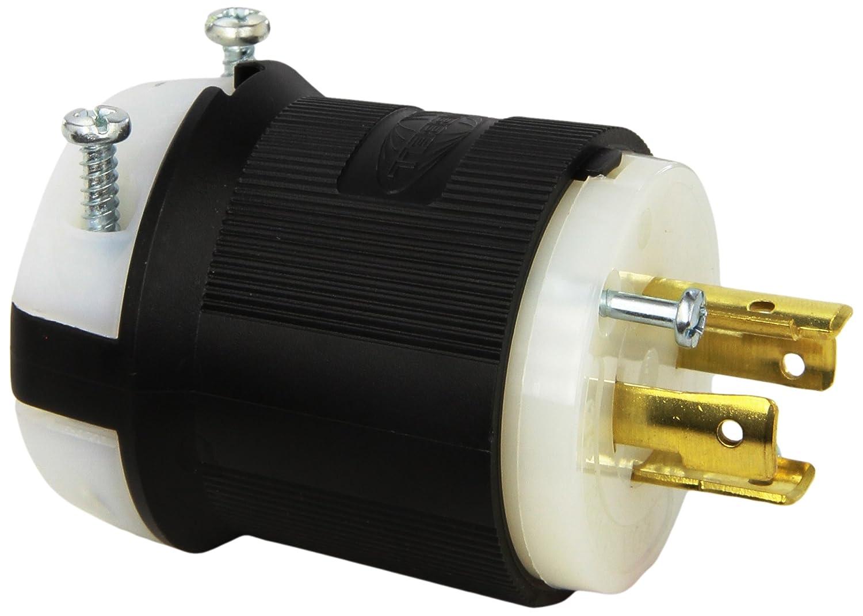 hubbell hbl2431 locking plug 20 amp 3 phase 480v l16 20p black rh amazon com