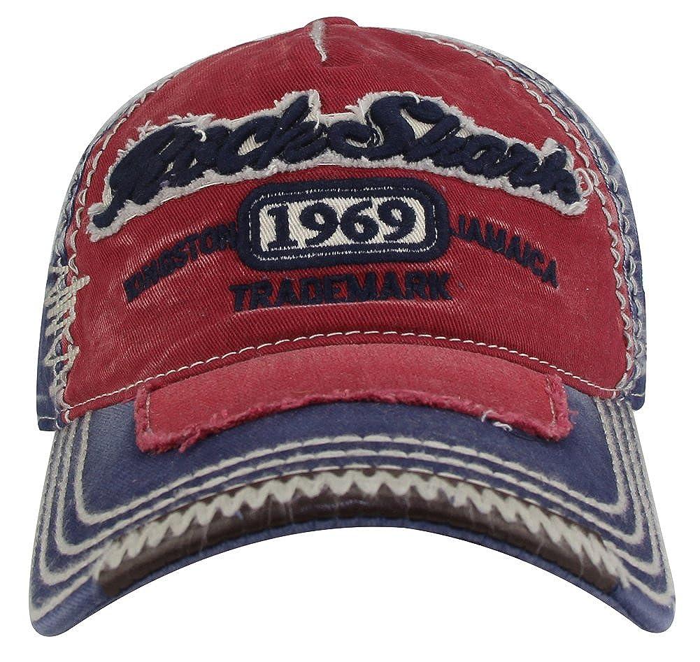 MINAKOLIFE Rock Shark Kingston 1969 Jamaica Distressed Vintage Baseball Cap Hat CAP-72942