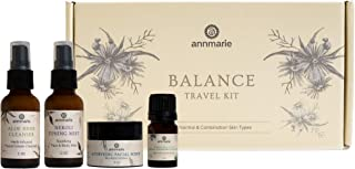 product image for Annmarie Skin Care Balance Travel Kit - Normal Skin Care Set with Cleanser, Toning Mist, Facial Oil + Exfoliating Mask (4 Piece Kit)